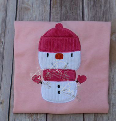 Adorable Little Snowman Machine Applique Embroidery Designs Design