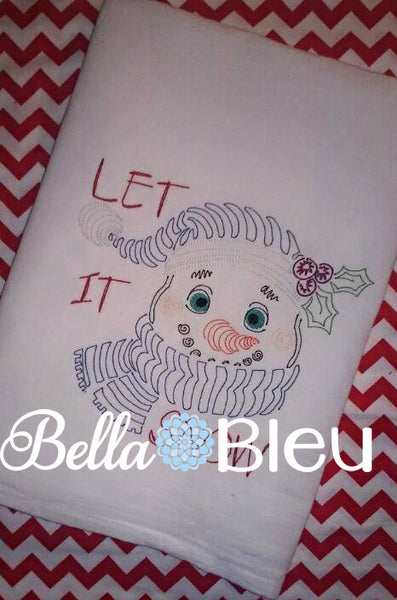 Adorable Frosty the Snowman Machine Colorwork Embroidery Design