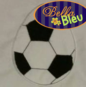 Soccer Ball Easter Egg  Machine Applique Embroidery Design