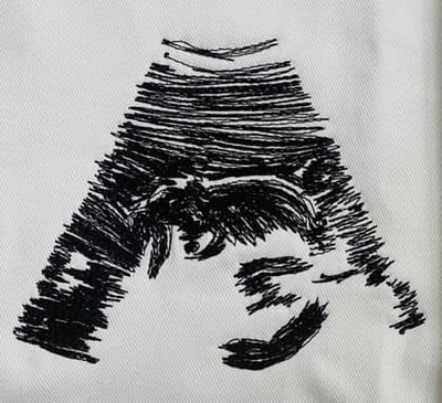 Custom sonogram embroidery design