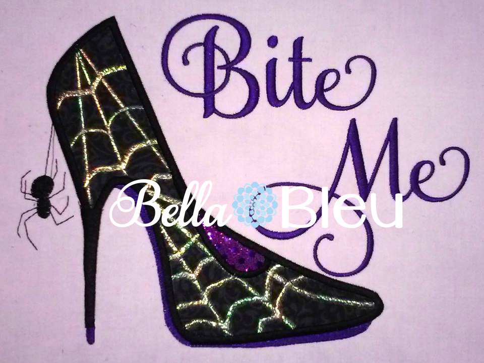 Sexy Spider Halloween Heels Heel machine applique embroidery design