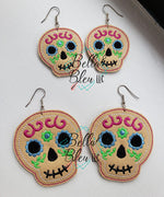 ITH Sugar Skulls Earrings Earring Jewelry