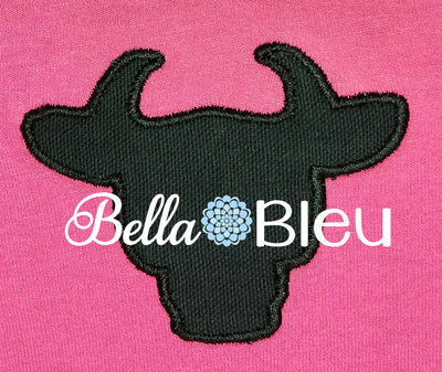Silhouette Steer Cow Applique