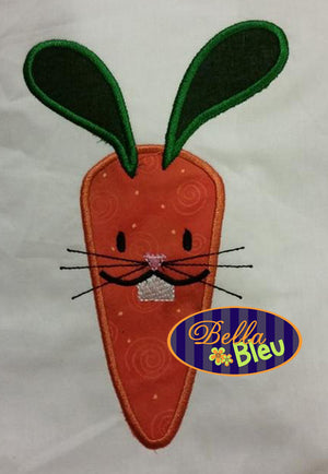 Easter Bunny Carrot Embroidery Applique design Easter machine embroidery Monogram