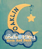 Baby Moon and Clouds Machine Applique Embroidery Design
