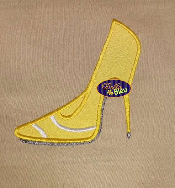 Tennis Shoe Sexy Heel Heels Machine Applique Embroidery Design