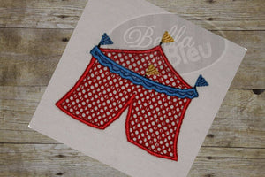 Circus Tent Machine Applique Embroidery Design