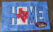 ITH Home Texas Pillow Machine Applique Embroidery Design