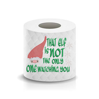 That Elf Santa Funny Saying Toilet Paper  Machine Embroidery Design sketchy