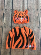 Tiger Sweater and Mask ITH Elf Shirt set