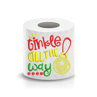 Christmas Funny Saying Tinkle all the way Toilet Paper Machine Embroidery Design sketchy