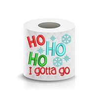 Christmas Funny Saying HO HO HO Snowflake Toilet Paper Machine Embroidery Design sketchy