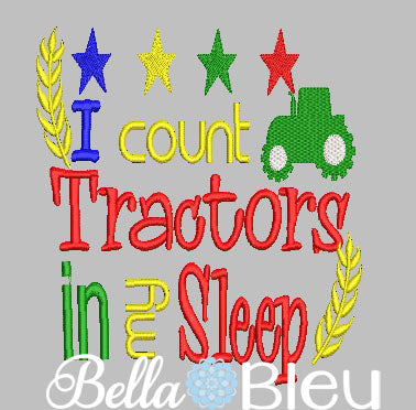 I Count Tractors In My Sleep Reading Pillow Book Quote