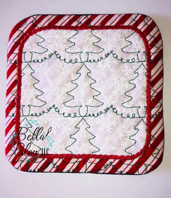 ITH Christmas Tree Stipple Mug Rug
