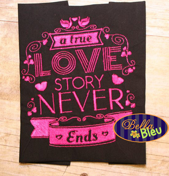 A True Love Story Wedding Valentines Saying