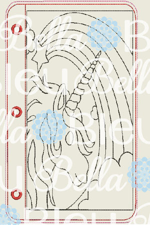 ITH Unicorn Horse Coloring Page Pages Machine Embroidery design