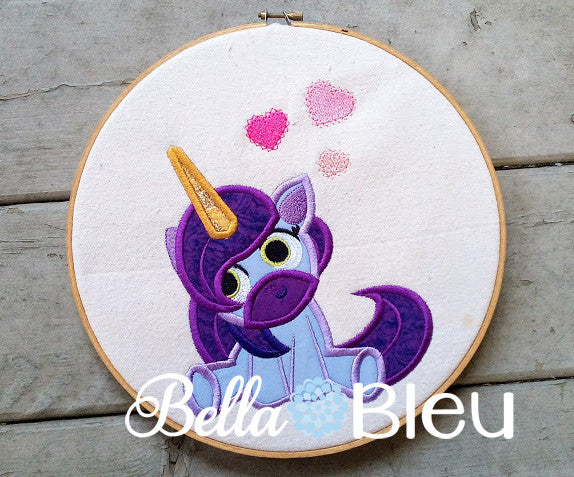 Princess crown ith feltie applique embroidery by designed by