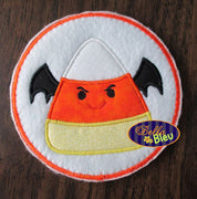 Halloween Bat Candy Corn Machine Applique Embroidery Design