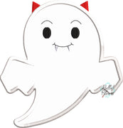 Halloween Vampire Ghost machine applique embroidery design