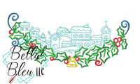 Christmas Village #3 Machine Embroidery Design