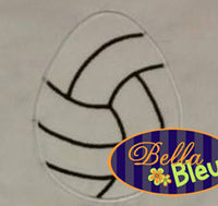 Volleyball  Easter Egg  with stitches Machine Applique Embroidery Design