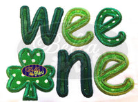 St Patrick's Day Irish Wee One Applique Embroidery Designs