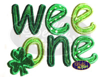 St Patrick's Day Irish Wee One Applique Embroidery Design