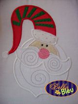 Adorable Whimiscial Christmas Santa Machine Applique Embroidery Design