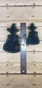 Halloween Wicked Witch Felt Feltie Machine Embroidery Design