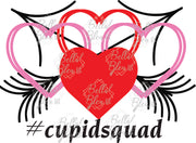 Valentines Day #CupidSquad Hearts Sublimation download