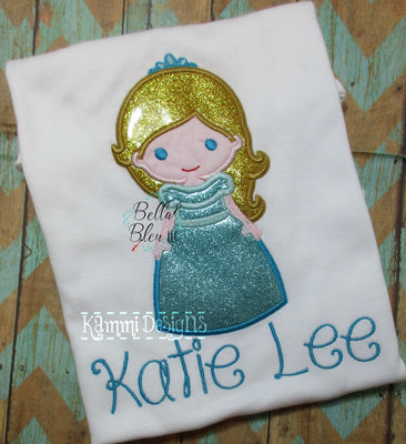 Blue Princess Applique