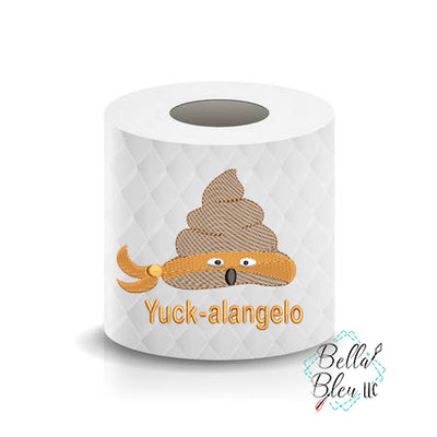 Yuckalangeo Turdle funny Poop Paper Saying Machine Embroidery Design sketchy