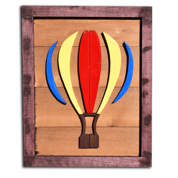 Hand Crafted Hot Air Balloon 3D Wall Art