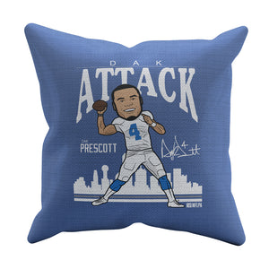 Dak Prescott Throw Pillow | 500 LEVEL