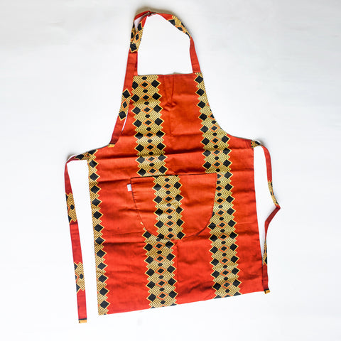AFRICAN PRINT APRON BY IBILE