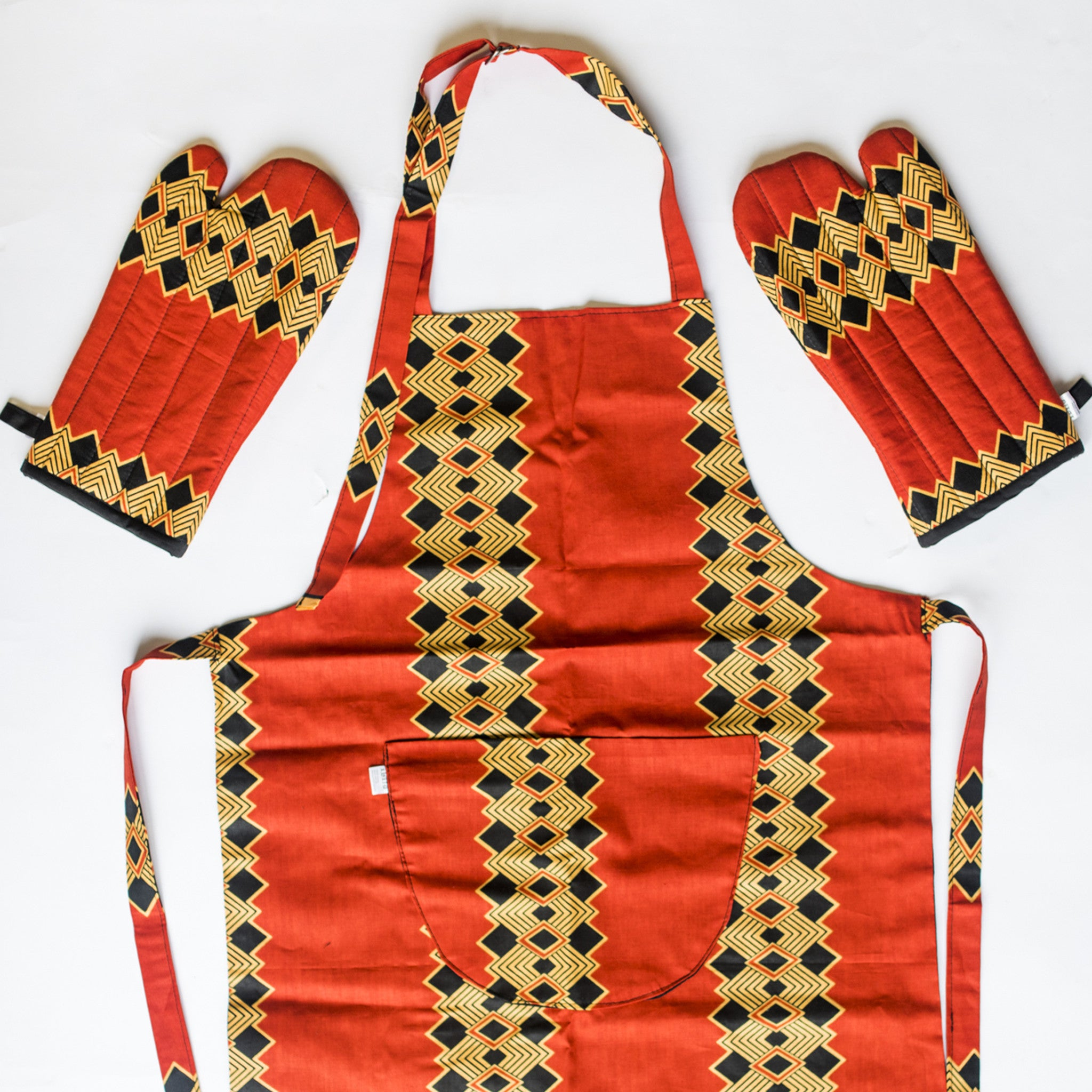 AFRICAN PRINT OVEN MITTS SET BY IBILE