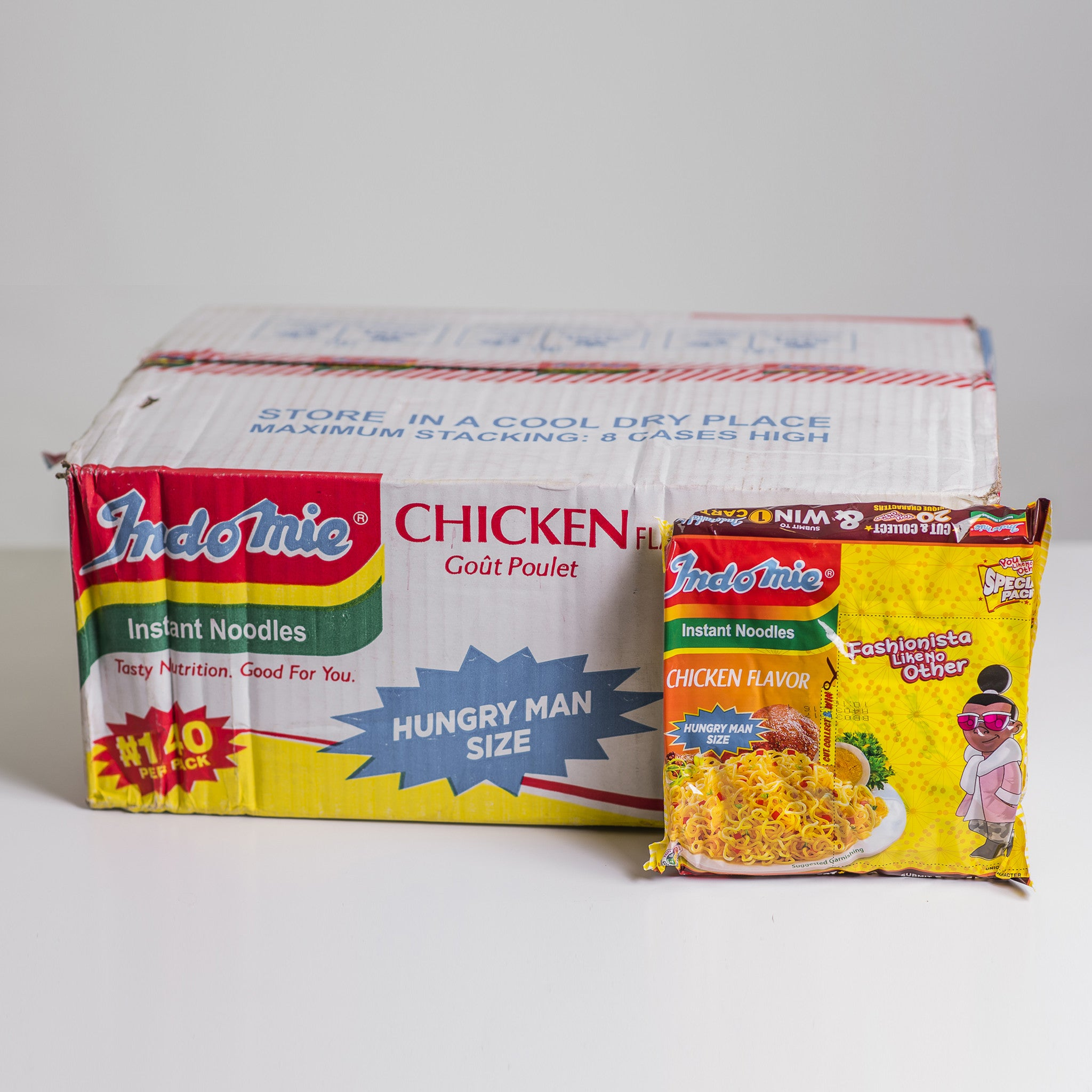 Indomie noodles - (210 gX 24 packs)- Hungry man size