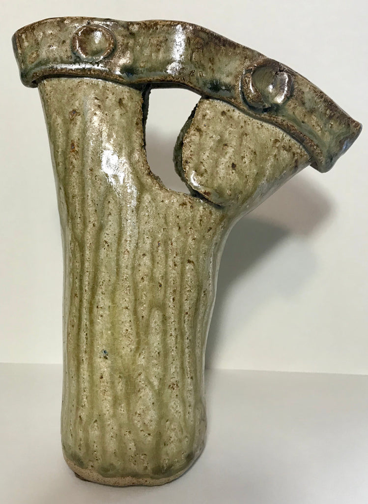 Unique Olive Ceramic Vase (Pre-loved)