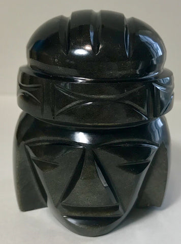 Carved Figure Golden Sheen Obsidian (Pre-Loved)