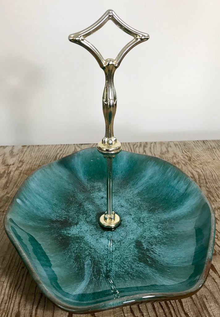 Blue mountain pottery serving tray