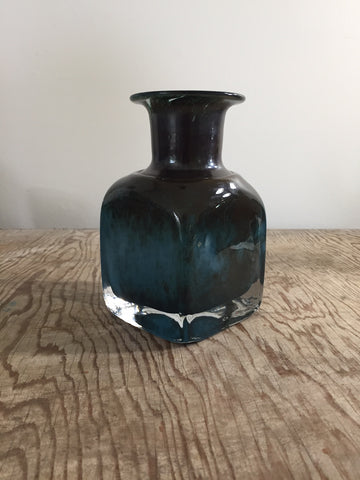 Handmade Blue Glass Bottle (Boda)