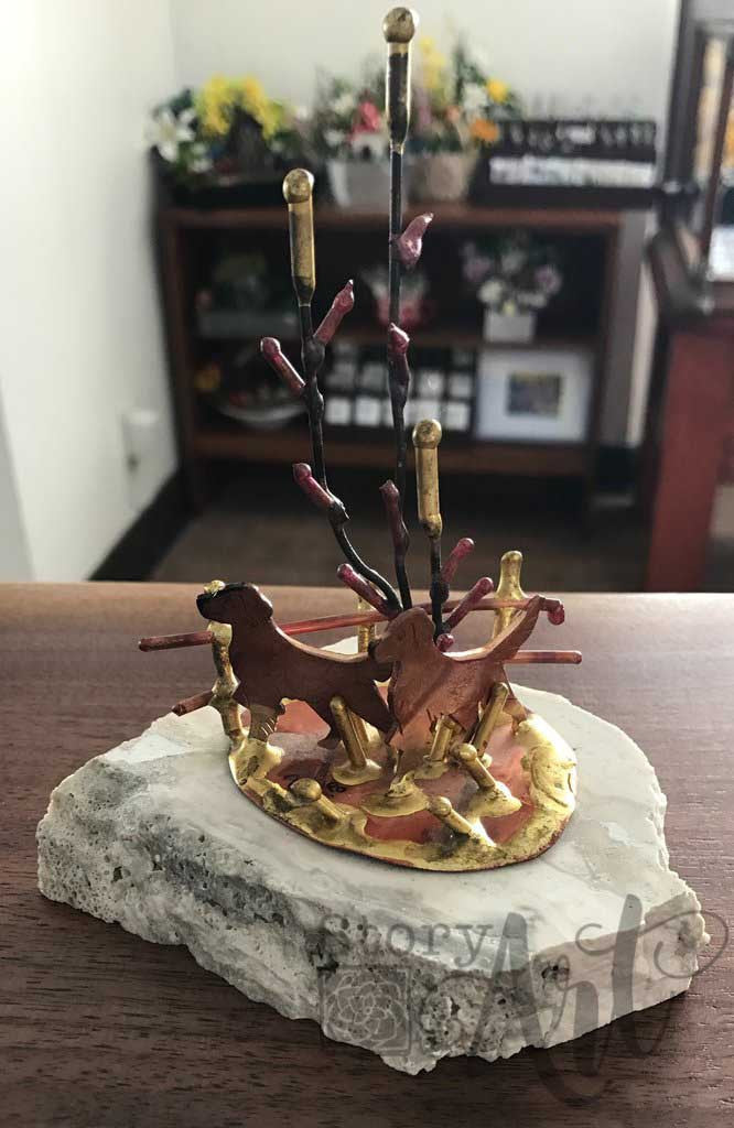 Copper Sculpture on Stone (Pre-loved)