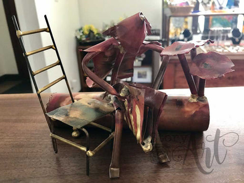 Copper Reader Sculpture (Pre-loved)