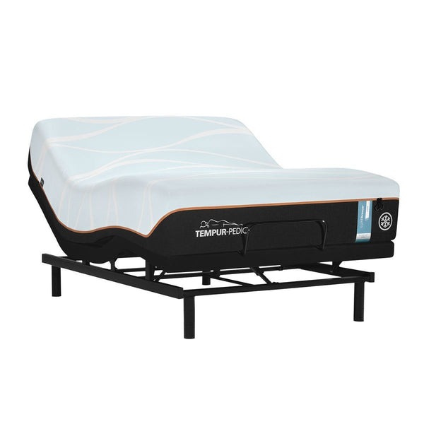 TEMPUR-LUXEBREEZE° FIRM MATTRESS ON AN ADJUSTABLE BASE