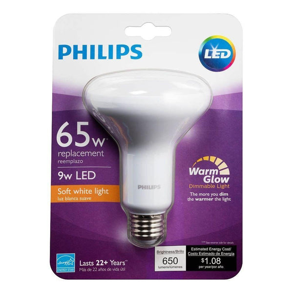 Philips 65-Watt Equivalent Warm/Soft White BR-30 LED (6-Pack) image 24744966671