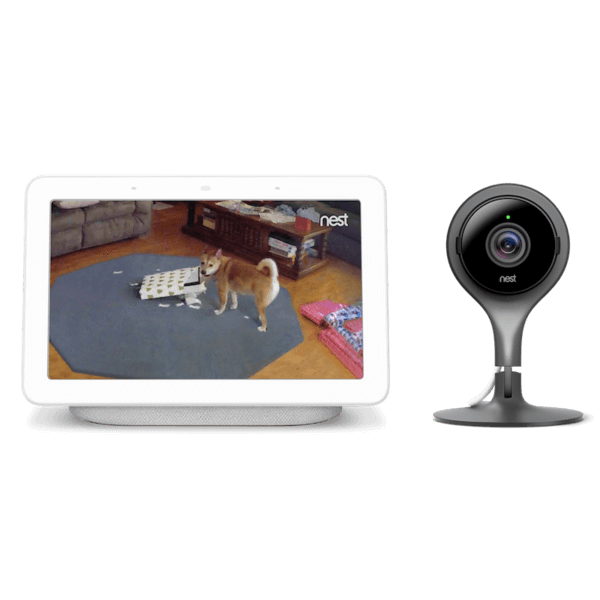 Nest Cam Indoor with Google Home Hub