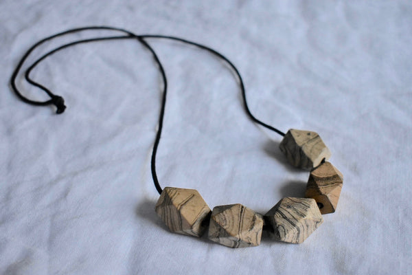 Marbled Geo Necklace