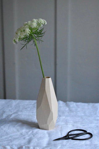 Geometric Maple Wood Bud Vase