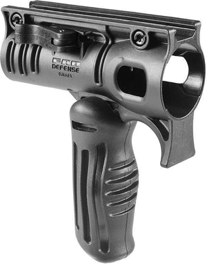 Folding Polymer Foregrip with Stinger Led Flashlight Mount
