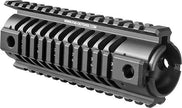 M4 Aluminum Picatinny Quad Rail Handguard Tactical Mount System - 177mm